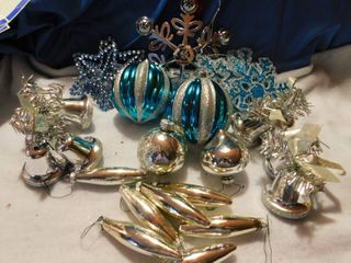 Blue Christmas Tree Decorating lot