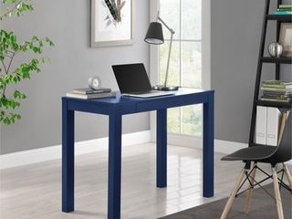 Parsons Desk with Drawer   Navy  Blue    Altra