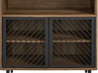 Walker Edison Furniture Company Modern Metal Accent And Wood Kitchen Buffet E