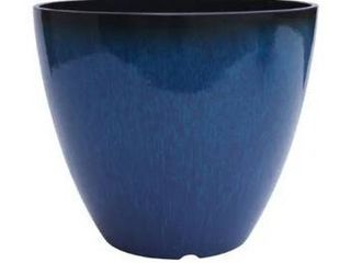 The Your Choice Patio and Indoor Garden 12  Plastic Resin Planter Blue