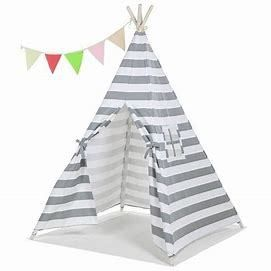 Teepee Tent for Kids with Carry Case Cavas Toys for Girls Boys Girls