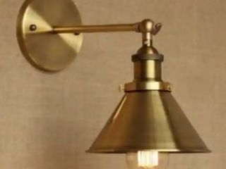1 light wall sconce with metal cone shade
