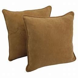 Blazing Needles 25 inch Microsuede Throw Pillow  Set of 2