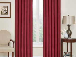 set of 2  54 x42  Kendall Thermaback Blackout Curtain Panel Red   Eclipse