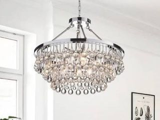 Silver Orchid Niese Glass Crystal 9 light Chandelier  Retail 205 99