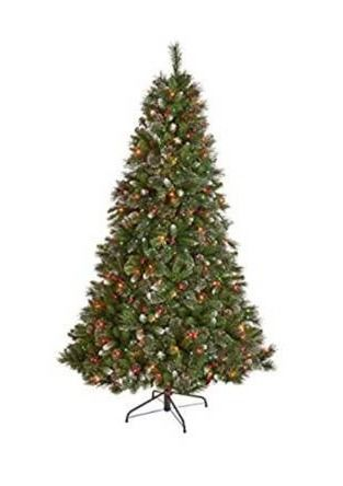 7 ft Spruce Prelit Hinged Artificial Christmas Tree