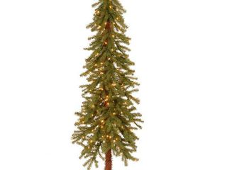 National Tree Pre lit 5  Hickory Cedar Artificial Christmas Tree with 150 Clear lights