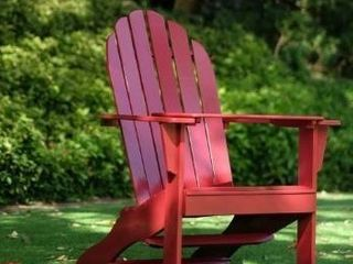 Set of 2 Cambridge casual Alston Adirondack chair with tray red
