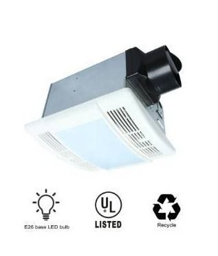 90 CFM Ceiling Exhaust Bathroom Fan with lED light brand Akicon