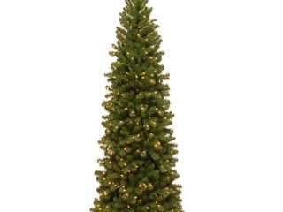 6 5 ft  North Valley Spruce Pencil Slim Tree with Clear lights