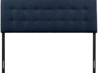 Emily Full Upholstered Fabric Headboard Navy   Modway