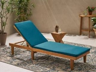 Nadine Outdoor Fabric Chaise lounge Cushion by Christopher Knight Home  Retail 96 49