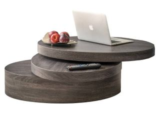 Carson Oval Mod Rotating Wood Coffee Table by Christopher Knight Home  Retail 295 49