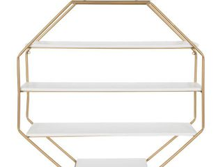 Kate and laurel lintz Wood Octagon Wall Shelf  Retail 169 99