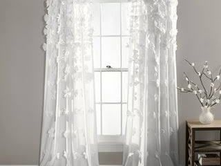 Silver Orchid Turpin Window Curtain   2 Panels