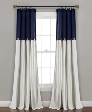 lush Decor linen Button Window Curtain   2 Panels
