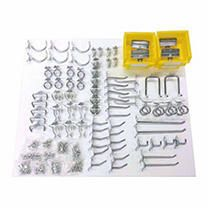 Triton Products DuraHook Kit Zinc Plated Steel Hook and Bin Assortment for DuraBoard 1 8 Inch and 1 4 Inch Pegboard  83 Piece