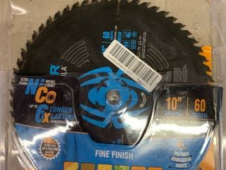 carbide tipped spyder tarantula 10in  60 tooth fine finish saw blade