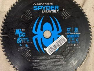 carbide tipped spyder tarantula 12in  80 tooth saw blade