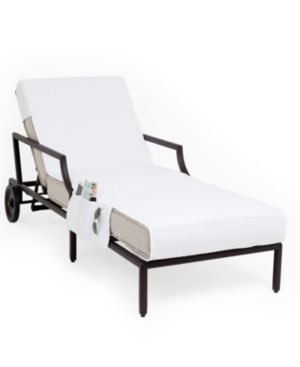 Authentic Turkish Cotton Standard Chaise lounge Chair White Towel Cover with Pockets