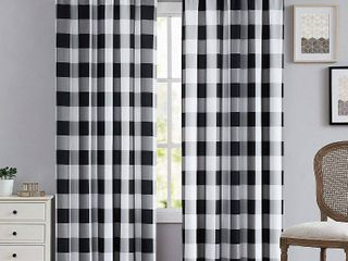 Truly Soft Everyday Buffalo Check Printed Window Curtain  Qty 6 Panels