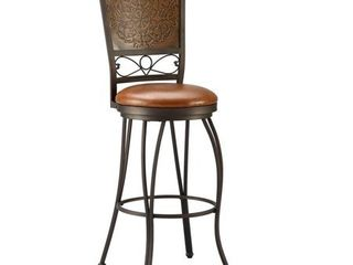 Powell Bailey Stamped Back Bar Stool  30in  Seat Height