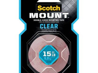 Scotch Mount Double Sided Mounting Tape Clear 1  x 60