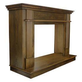 Ashley 56 1 2 in  x 40 1 2 in  Wood Mantle in Medium Oak