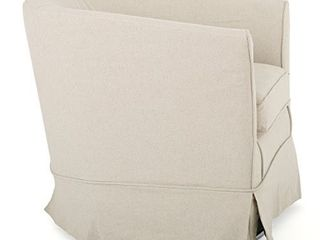Christopher Knight Home Cecilia Swivel Chair with loose Cover  Natural Fabric