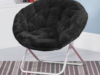 Mainstays Faux Fur Saucer Chair  Available in Multiple Colors   Not Inspected