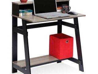 Furinno Simplistic a Frame Computer Desk  Espresso