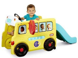 little Baby Bum Wheels on the Bus Official Climber and Slide with Interactive Musical Dashboard by little Tikes