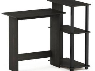 Furinno Abbott Corner Computer Desk with Bookshelf  Espresso Black  16086R1EX BK DAMAGED