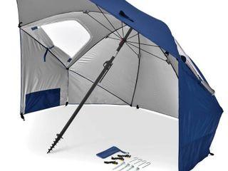 Sport Brella Premiere UPF 50  Umbrella Shelter for Sun and Rain Protection  8 Foot  Blue