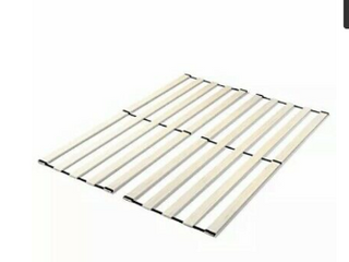 Zinus Annemarie Solid Wood Bed Support Slats   Fabric covered   Bunkie Board  Tw   Not Inspected