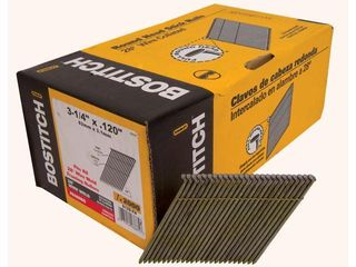 BOSTITCH S12D FH 28 Degree 3 1 4 Inch by  120 Inch Wire Weld Framing Nails  2 000 per Box    Box Quantity Not Inspected