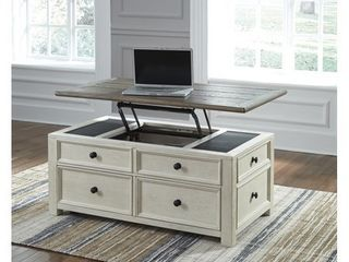 Signature Design by Ashley Bolanburg lift Top Coffee Table  Two tone  Off White Brown