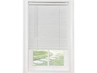 Achim Home Furnishings Cordless Morningstar 1  light Filtering Mini Blind  Width 37inch  Pearl White