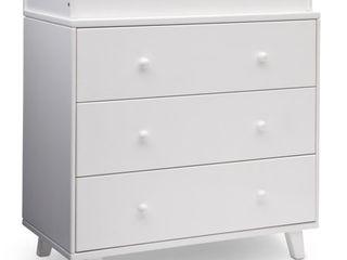 Delta Children Ava 3 Drawer Dresser with Changing Top   White