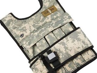 CROSS101 Weighted Vest 20lbs   80lbs with Shoulder Pads Option