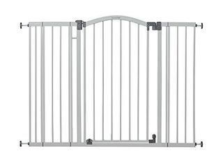 Summer Extra Tall   Wide Safety Baby Gate  Cool Gray Metal Frame a 38a Tall  Fits Openings 29 5a to 53a Wide  Baby and Pet Gate for Extra Wide Doorways  Stairs  and Wide Spaces  DAMAGED