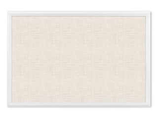 U Brands Cork linen Bulletin Board  20 x 30 Inches  White Wood Frame  2074U00 01    Not Inspected
