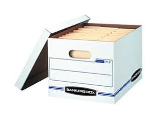 bankers box stor file storage boxes  standard set up  lift off lid  letter legal  6 pack  0071303  may not have all lids