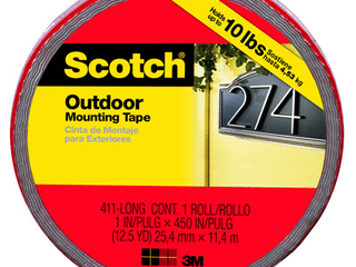 Scotch 414 lONG DC Extreme Mounting Tape  1 Inch X 400 Inch  1 Pack