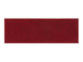 Ottomanson Ottohome Collection Solid Design Runner Rug  2 3  X 6  Red Solid