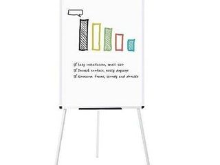 VIZ PRO light Melamine Tripod Whiteboard Flipchart Easel  24  W x 36  l