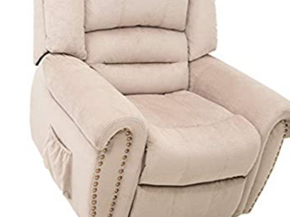 Merax Electric Power lift Recliner Chair lazy Boy Sofa for Elderly  Heat  Office or living Room  light Brown Massage    Not Inspected   light Brown