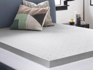 lucid 3  Bamboo Charcoal Memory Foam Mattress Topper   Not Inspected