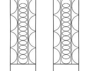 Garden Trellis for vines and climbing plants set of 2 black metal wire lattice grid panels