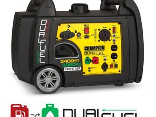 Champion 3400 Watt Dual Fuel RV Ready Portable Inverter Generator with Electric Start   Not Inspected